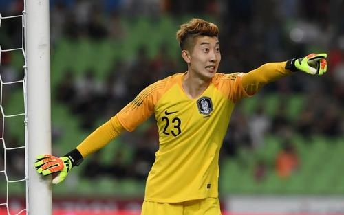 Thủ môn Hàn Quốc tiếc nuối vì bị Minh Vương chọc thủng lưới, nhận bàn thua đầu tiên ở ASIAD 2018