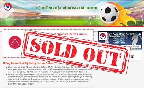 Chính thức bán hết vé online trận Việt Nam vs Philippines tại bán kết AFF Cup 2018.