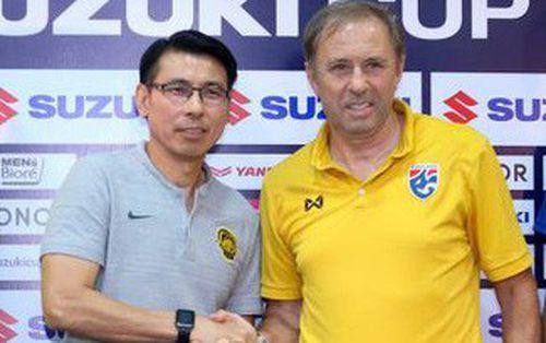 HLV tuyển Thái Lan và Malaysia nắn gân nhau trước trận bán kết lượt về AFF Cup 2018