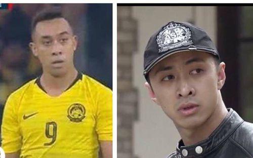 Cộng đồng mạng thích thú vì sự giống nhau khó tin giữa tiền đạo tuyển Malaysia với soái ca trong