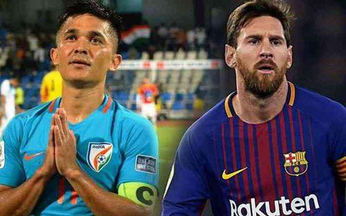 Hai lần chọc thủng lưới Thái Lan, cầu thủ hay nhất Ấn Độ chính thức vượt mặt Messi