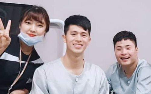 Fan kêu trời vì Đình Trọng gầy đi thấy rõ trong những ngày điều trị chấn thương tại Hàn Quốc