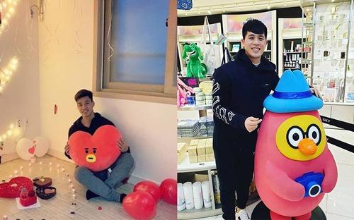 Valentine tại Hàn Quốc của Đình Trọng và Văn Thanh: Người lẻ bóng, người nhận quà lãng mạn bất ngờ