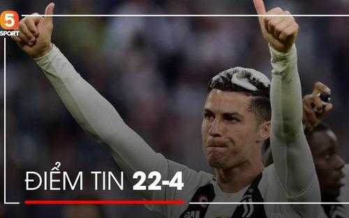 Điểm tin thể thao: Ronaldo phá lệ uống rượu, Messi lần đầu nịnh vợ trên mạng xã hội