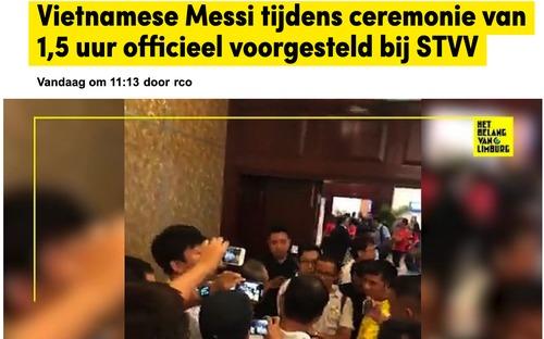 Công Phượng có biệt danh mới khi sang châu Âu, báo Bỉ ngạc nhiên khi lễ ra mắt dài ngang một trận bóng