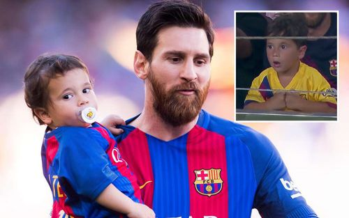 Được bố Messi dẫn đi xem bóng đá, ai ngờ cậu quý tử Mateo lại chiếm trọn sự chú ý bằng loạt biểu cảm vô cùng đáng yêu này