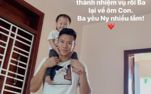 Đội trưởng tuyển Việt Nam nhắn nhủ với con gái đầy cảm động: