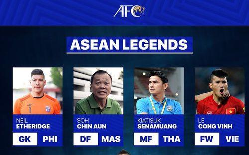 Công Vinh được AFC xướng tên trong đội hình huyền thoại bóng đá Đông Nam Á