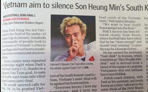 Báo Singapore cổ vũ Việt Nam làm Son Heung-min và Hàn Quốc câm lặng