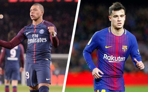 Barcelona sẵn sàng chi 150 triệu euro cộng với Philippe Coutinho để có được Kylian Mbappe