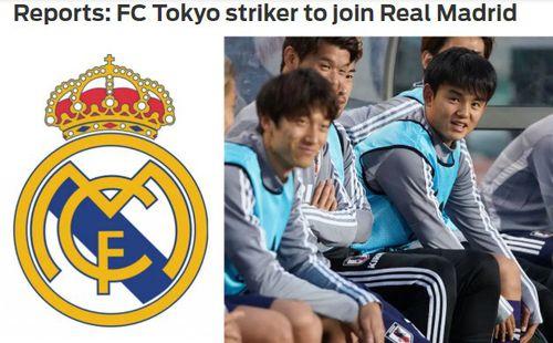 Thần đồng bóng đá Nhật Bản gia nhập Real Madrid?