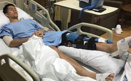 Đình Trọng cảm ơn bác sĩ sau phẫu thuật thành công ở Singapore: Sẵn sàng cho mọi thử thách