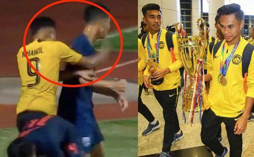 Tiền đạo U15 Malaysia lý giải hành động đấm trả cầu thủ Thái Lan
