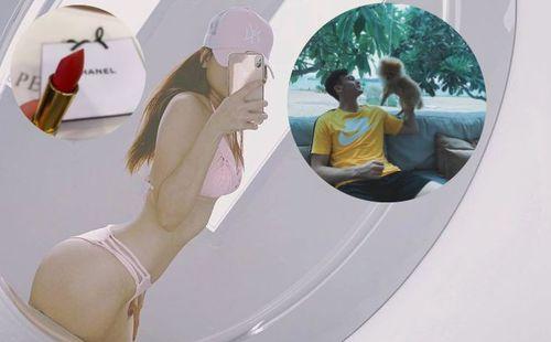 Du hí cùng Lâm 'Tây', bạn gái nóng bỏng khoe hàng hiệu, bikini bốc lửa
