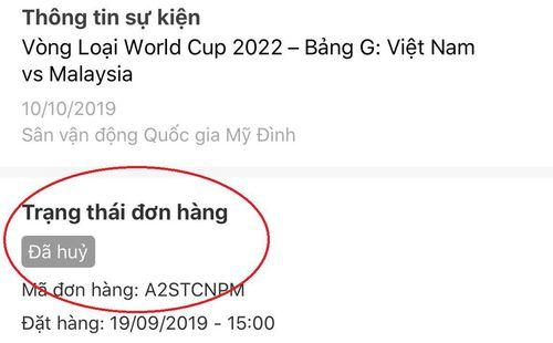 NHM bóng đá dở khóc dở cười vì lỗi khó đỡ của ứng dụng bán vé trận Việt Nam - Malaysia