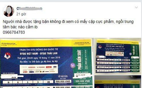 Vé xem Việt Nam vs Thái Lan bị hét giá...