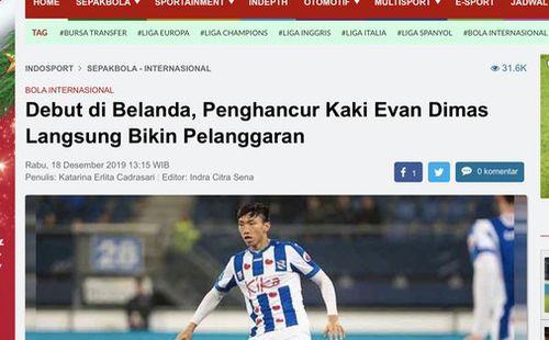 Báo Indonesia mỉa mai Văn Hậu: