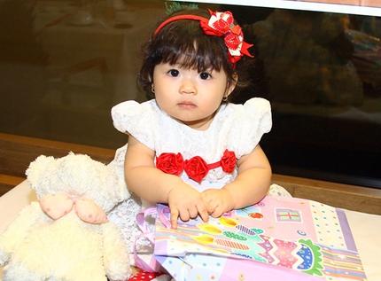 Lễ thôi nôi ấm cúng của con gái HH Trần Thị Quỳnh 4