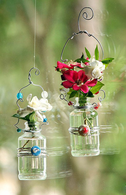 2 cách làm bình hoa đẹp xinh từ lọ thủy tinh cũ 16