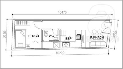 Bài trí nội thất tiện nghi cho nhà 32 m²  1